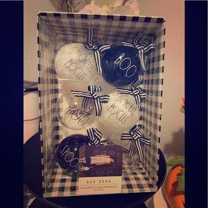 Rae Dunn Accents - Rae Dunn Halloween 6pc Glass Ornaments set